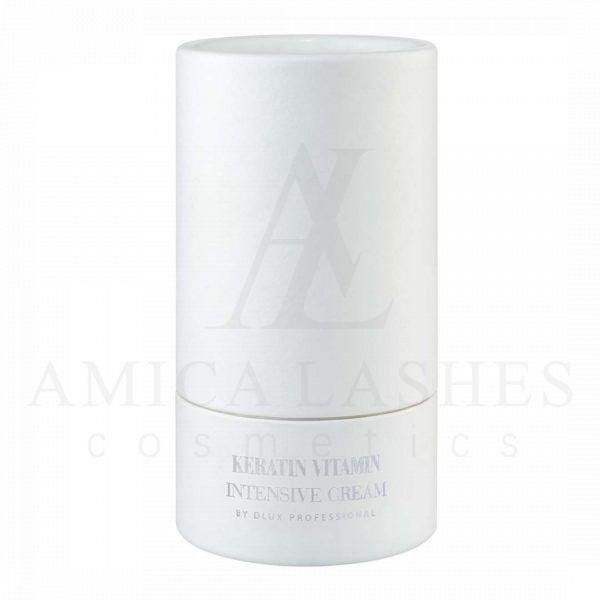Keratin Vitamin Intensive Cream отDlux Professional это дополнительный уход и забота о ресницах и бровях. Изнутри укрепляет волоски, делает их более упругими и сильными.