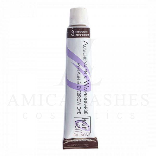 Краска для ресниц HairWell с мягким составом, отлично подходящая для окрашивания бровей и ресниц во время процедуры ламинирования. Купить с доставкой